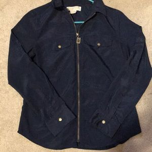 Micheal Kors zip up shirt